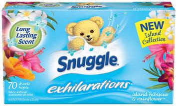 Snuggle® Exhilarations® Island Hibiscus & Rainflower™ Fabric Softener Dryer Sheets 70 ct Box