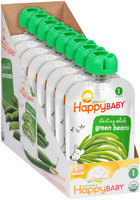 Happy Baby® Starting Solids Green Beans Organic Baby Food 8-3.5 oz. Pouches
