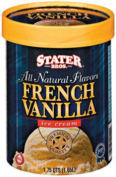 Stater Bros. French Vanilla Ice Cream 1.75 Qt Tub
