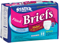 Stater Bros. Medium W/Omni-Odor Guard Protection Fitted Briefs 22 Ct Bag