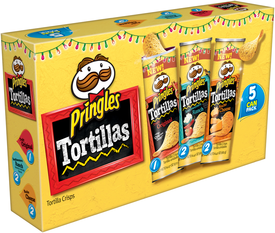 Pringles® Tortillas Original/Southwestern Ranch/Nacho Cheese Tortilla Crisps Variety Pack