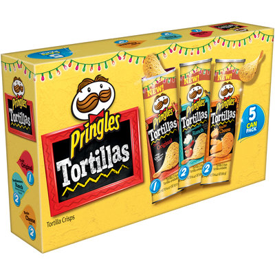 Pringles® Tortillas Original/Southwestern Ranch/Nacho Cheese Tortilla Crisps Variety Pack