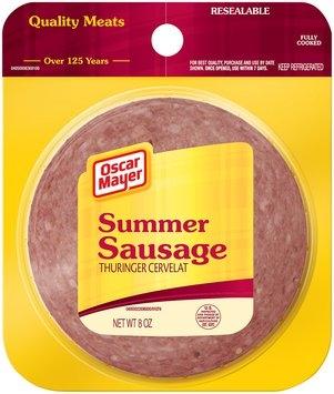Oscar Mayer Cold Cuts  Summer Sausage 8 Oz Peg