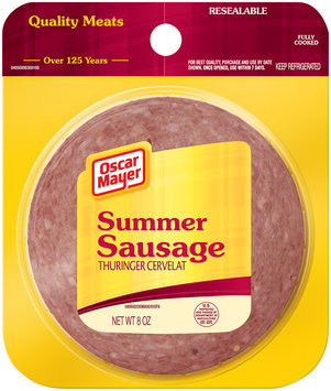 Oscar Mayer Cold Cuts  Summer Sausage 8 Oz Peg