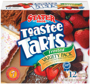 Stater Bros. Frosted Variety Pk 12 Ct Toastee Tarts 22 Oz Box
