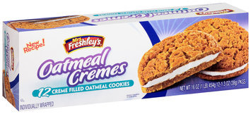 Mrs. Freshley's® Creme Filled Oatmeal Cremes Cookies
