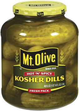 Mt. Olive Kosher Dills Hot 'n' Spicy Fresh Pack Pickles 46 Oz Jar
