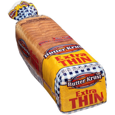 ButterKrust® Extra Thin Sandwich Enriched Bread 20 oz. Bag