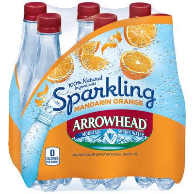 Arrowhead® Sparkling Mandarin Orange Mountain Spring Water 6-0.5L Plastic Bottles
