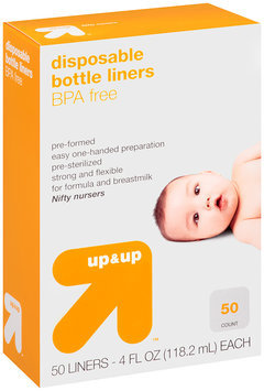 Up & Up™ Nifty Nursers 4 fl. oz. Disposable Bottle Liners 50 ct.
