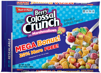 Malt-O-Meal® Berry Colossal Crunch® Cereal with Marshmallows 38.4 oz. ZIP-PAK®