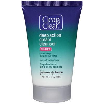 Clean & Clear® Deep Action Cream Cleanser 1 Oz Tube