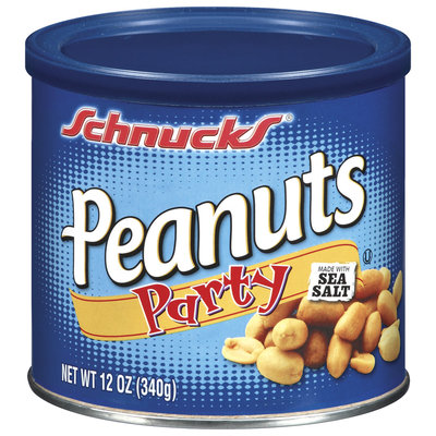 Schnucks Party Peanuts 12 Oz Canister