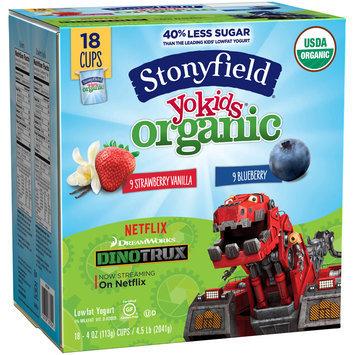 Stonyfield Yokids® Strawberry Vanilla & Blueberry Organic Squeezers® Lowfat Yogurt 18-4 oz. Cups
