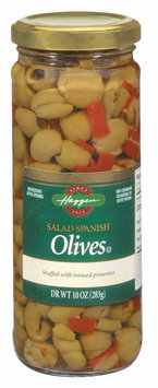 Haggen Salad Spanish Olives 10 Oz Jar