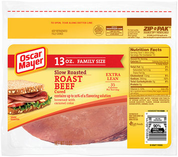 Oscar Mayer Slow-Roasted Cured Roast Beef Cold Cuts 13 oz. ZIP-PAK®