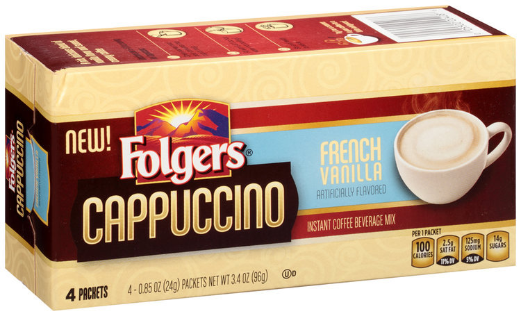 Folgers 174 Cappuccino French Vanilla Instant Coffee Beverage