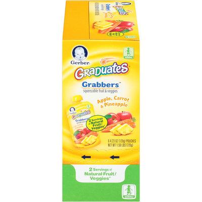 Gerber® Graduates® Grabbers™ Apple, Carrot & Pineapple Squeezable Fruit & Veggies 6-4.23 oz. Pouches