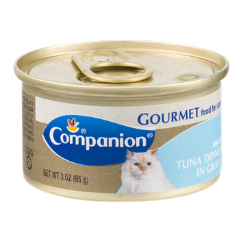 Companion Gourmet Food for Cats Grilled Tuna Dinner in Gravy 3 OZ
