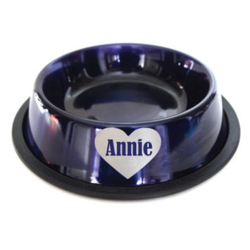 Lucky Pups Personalized Heart Dog Bowl