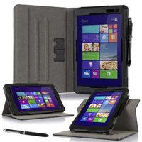 roocase Dell Venue 8 Pro (Windows 8.1) Case - Dual View Multi-Angle Stand 8.0-Inch 8.0
