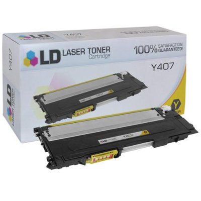 LD Compatible Alternative for Samsung CLT-Y407S Yellow Laser Toner Cartridge for the: CLP-320, CLP-320N, CLP-321N, CLP-325, CLP-325W, CLP-326, CLX-3180, CLX-3185FW, CLX-3185N & CLX-3186 Printers