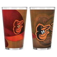 Boelter Brands MLB Orioles Set of 2 Shadow Pint Glass - 16oz