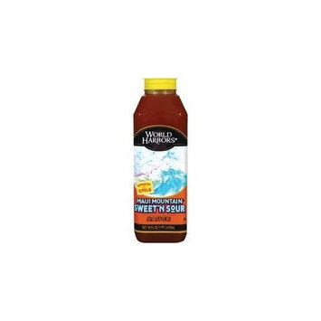 World Harbors Maui Mountain Hawaiian Style Sweet 'n Sour Sauce 18oz (Pack of 2)