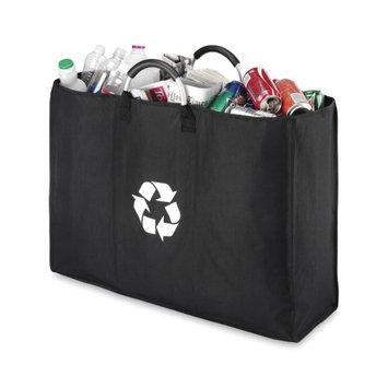 Whitmor Recycle Triple Sorter Bag Black