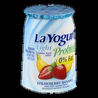 La Yogurt Probiotic Light Nonfat Yogurt Strawberry Banana