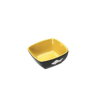 Ethical 5 -Inch Vista Cat DishYellow/Black