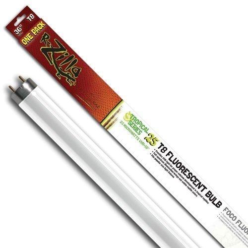 R-Zilla SRZ100011881 Tropical 25 UVB Reptile Fluorescent T8 Bulb, 25-watt