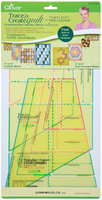 Clover Trace 'n Create Quilt Templates With Nancy Zieman-Grandmother's One Patch Collection