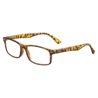 ICU Eyewear ICU Plastic Rectangle Tortoise With Studs Reading Glasses and Case -