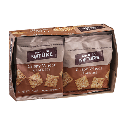 Back To Nature Crackers Crispy Wheat - 8 CT
