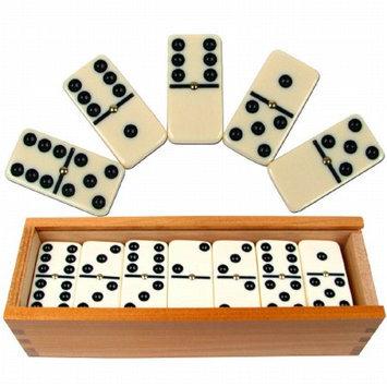 Trademark Games Premium Set of 28 Double Six Dominoes w/ Wood Case