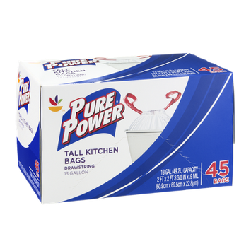 Pure Power Tall Kitchen Bags
