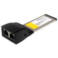 StarTech.com Dual Port ExpressCard Gigabit Laptop Ethernet NIC Network Adapter Card - Network adapter - ExpressCard/34 -