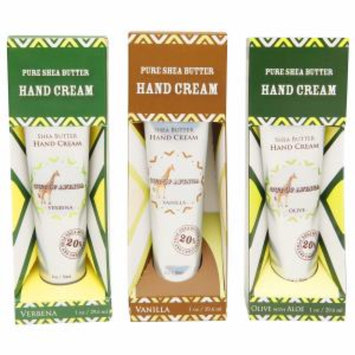 Out Of Africa Pure Shea Butter Hand Cream 3 Pack, Verbena, Vanilla, Olive with Aloe, 1 set