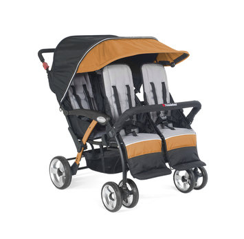 Foundatons Worldwide Foundations Quad Sport 4-passenger Stroller in Orange