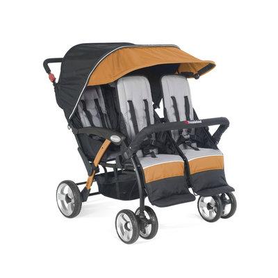 Foundatons Worldwide Foundations Quad Sport 4-passenger Stroller in Orange