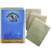 Swaddlebees Blueberry Cotton 6 Piece Prefold Diapers, Unbleached, Newborn