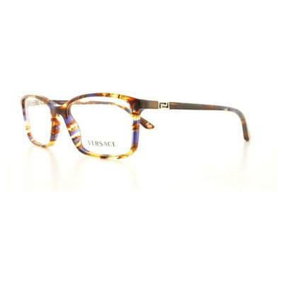 VERSACE Eyeglasses VE 3163 992 Striped Brown 54MM