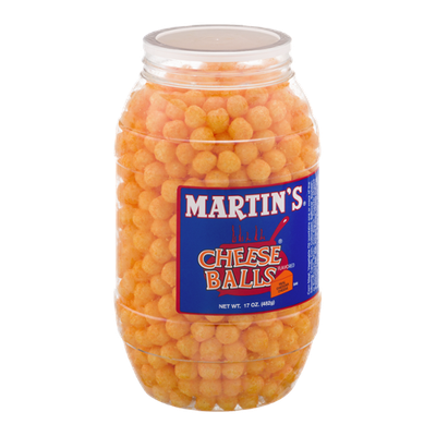 Martin's Cheese Balls Real Cheddar Cheese Flavored