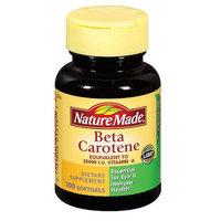 Nature Made Beta Carotene Dietary Supplement Softgels