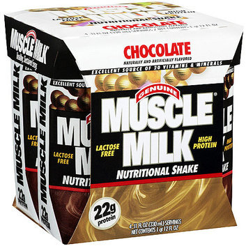 Muscle Milk Genuine  Nutritional Chocolate Shake - 4 Ct