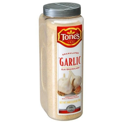 Spices Seasonings Tone's Granulated Garlic - 26 oz shaker Misc.