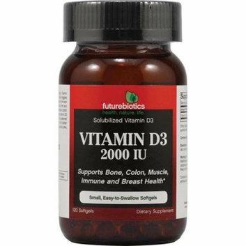 FutureBiotics Vitamin D3 2000 IU 120 Softgels