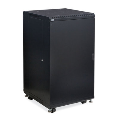 Linier 3104-3-024-22 22U Server Cabinet - Solid/Convex Doors - 24-inch Depth