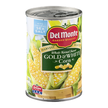 Del Monte Harvest Selects Whole Kernel Sweet Gold & White Corn
